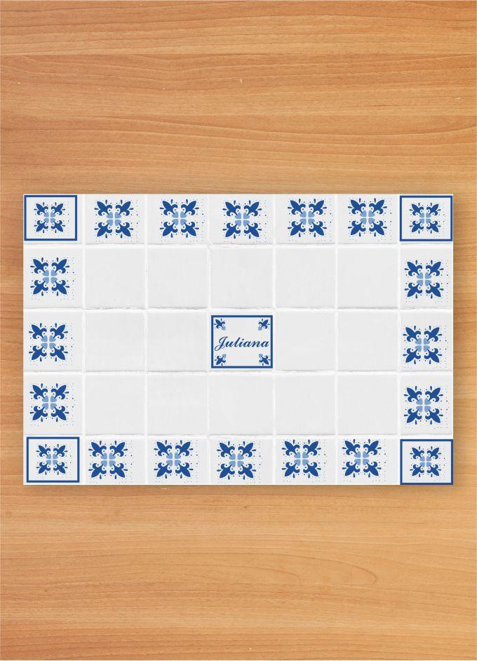 Jogo Americano Personalizado - Azulejo Português
