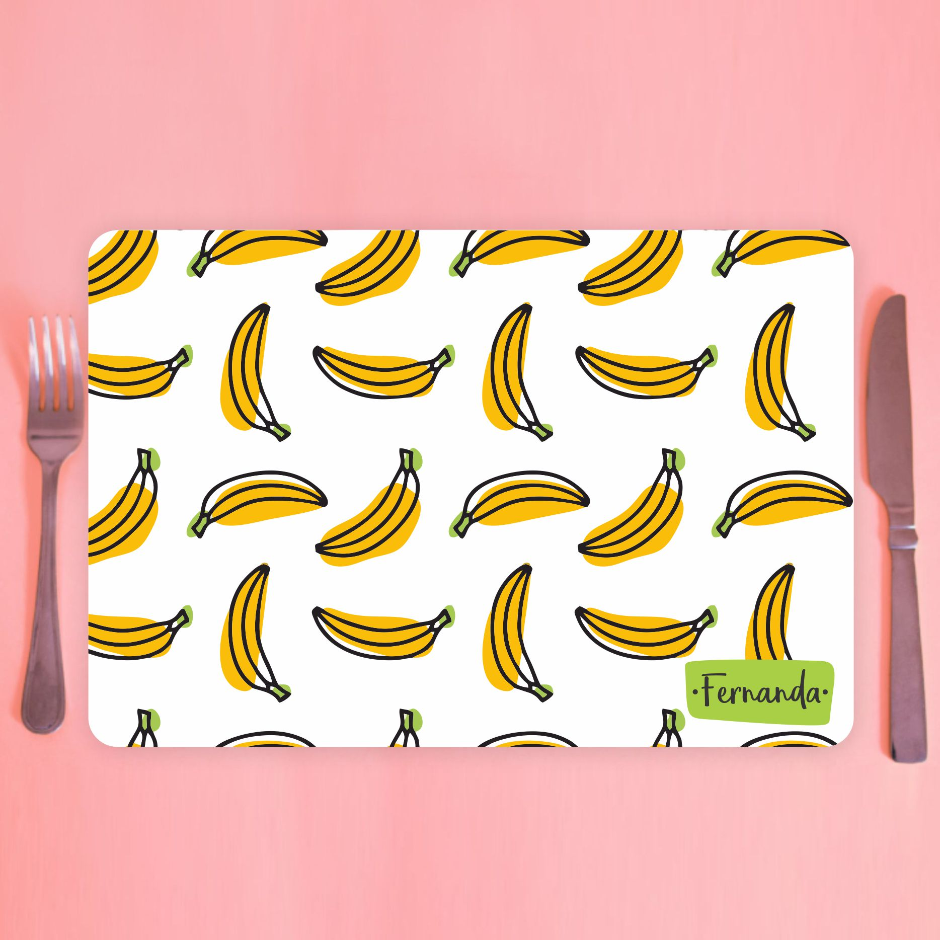 Jogo Americano Personalizado - bananas