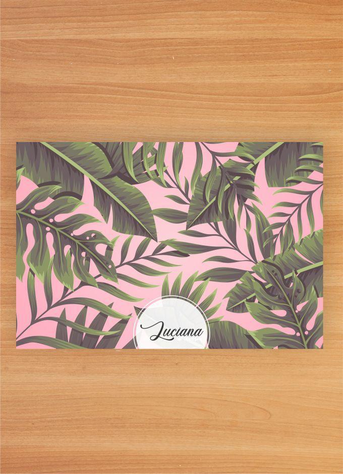 Jogo Americano Personalizado - Floral PINK