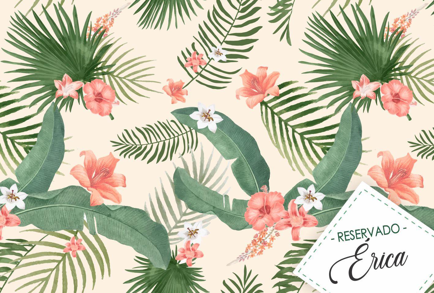 Jogo Americano Personalizado - Floral Rosa
