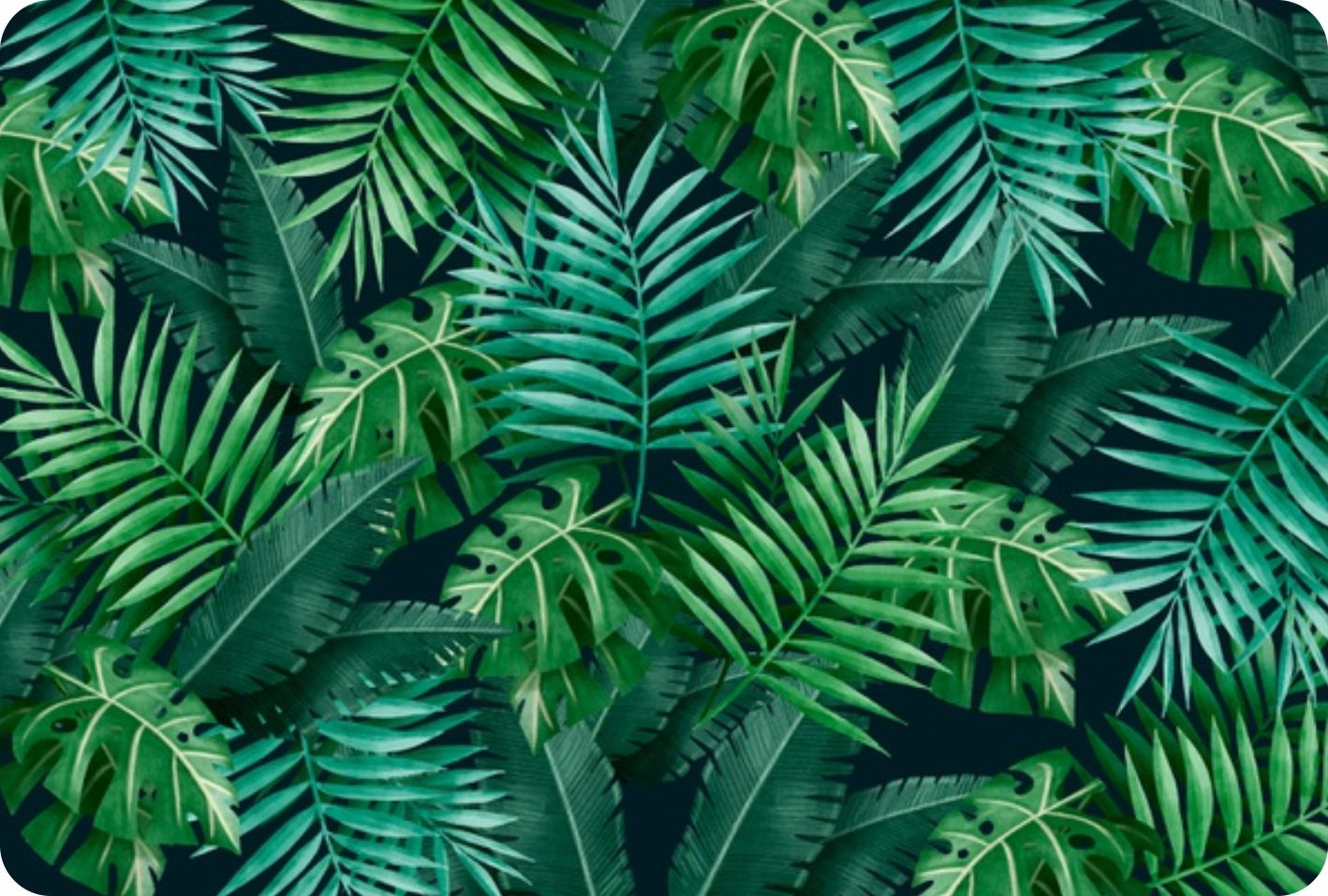 Jogo Americano Personalizado - Folhas verdes