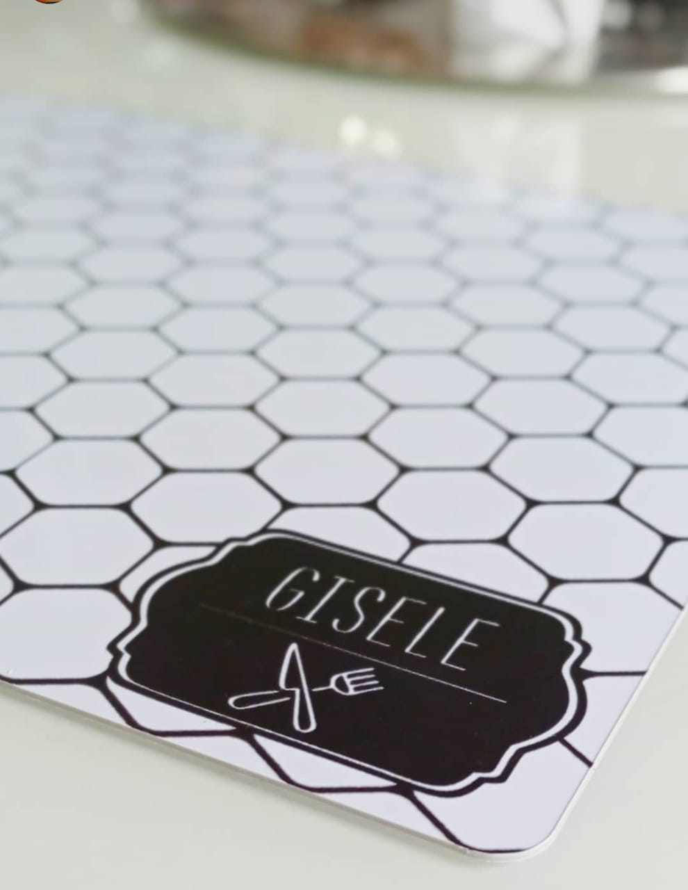 Jogo Americano Personalizado - Hexagonal
