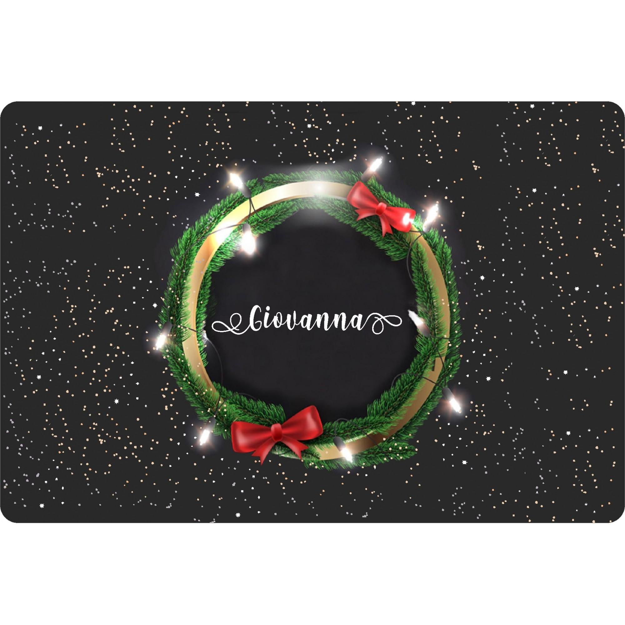 Jogo Americano Personalizado Natal - Guirlanda e Luzes