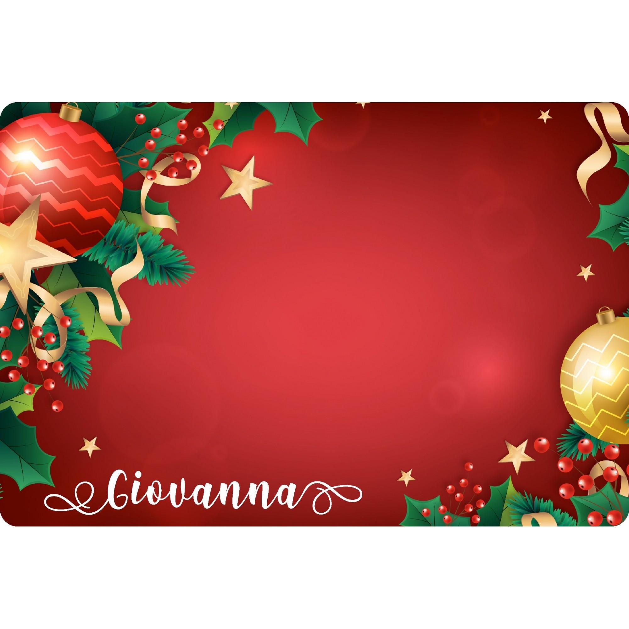 Jogo Americano Personalizado Natal - Vermelho