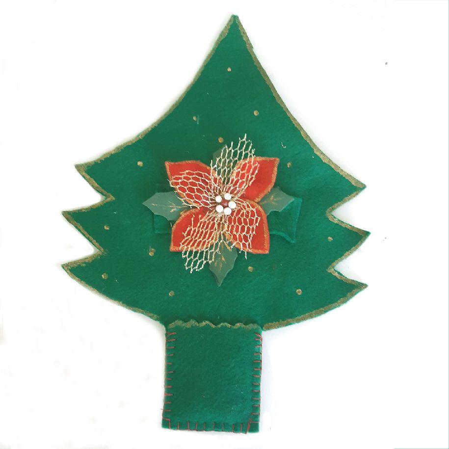 Porta-Talheres - Árvore de Natal