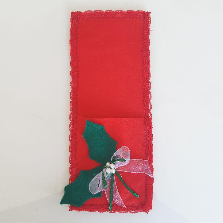 Porta-Talheres - Flor de Natal