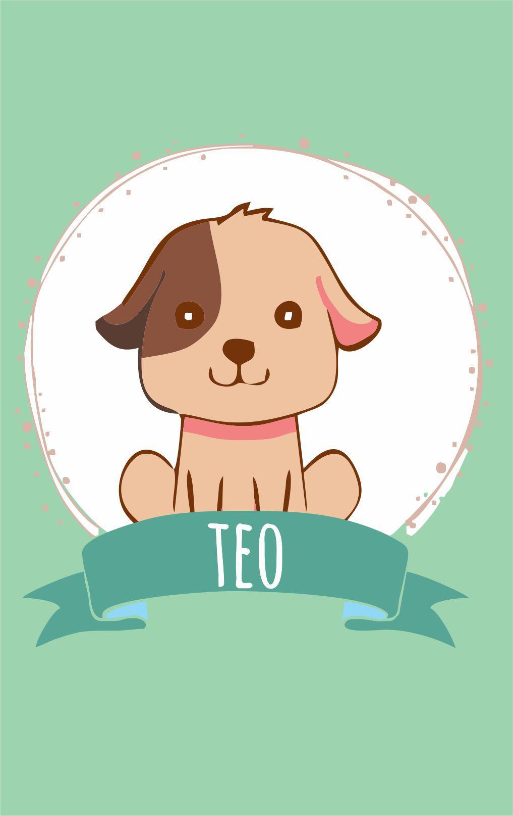 Mini Placa de Madeira Personalizada - Cachorrinho Baby