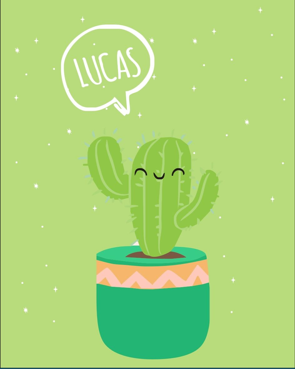 Mini Placa de Madeira Personalizada - Cactos