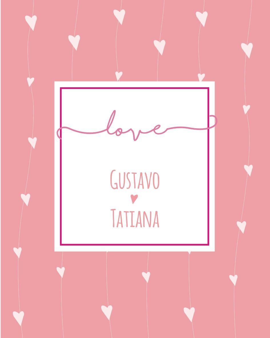 Mini Placa de Madeira Personalizada - Corações