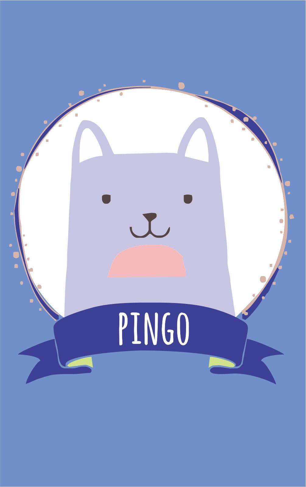Mini Placa de Madeira Personalizada - Gato Baby