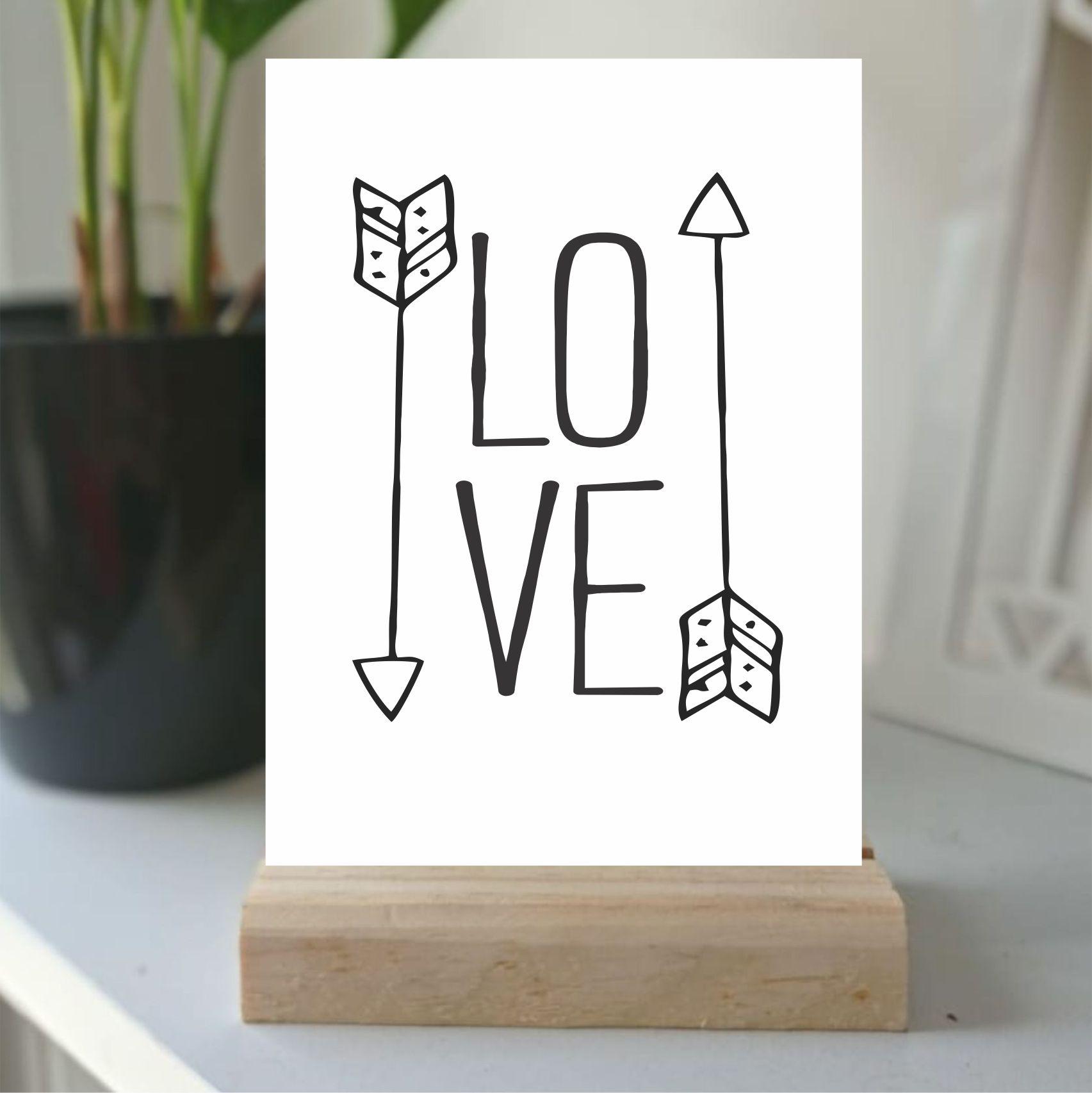 Plaquinha de Mesa -  LOVE