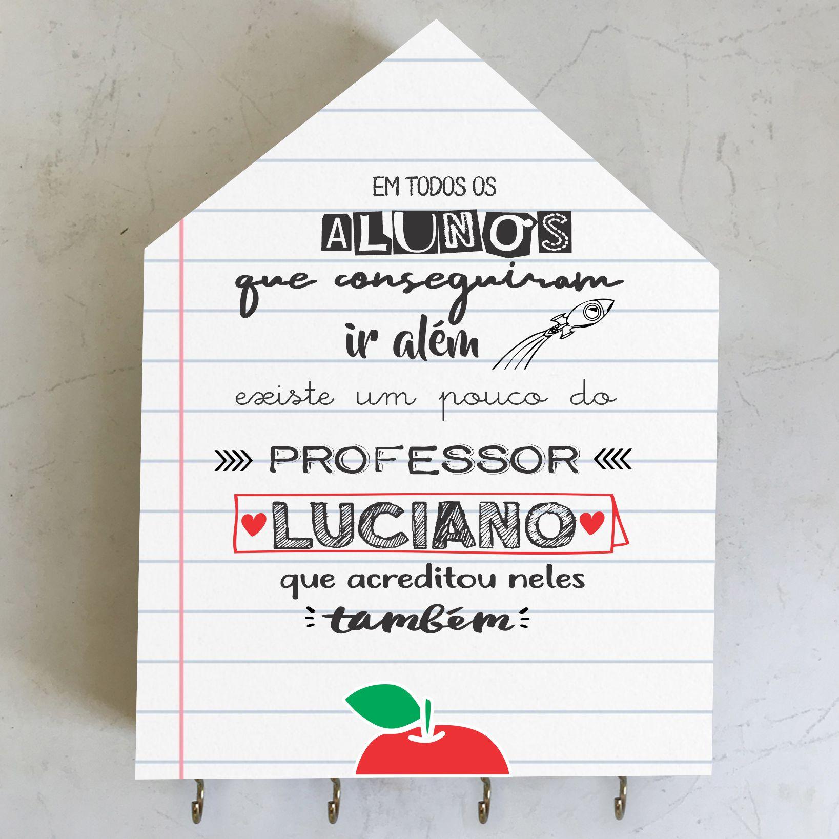 Porta-Chaves Homenagem - Mensagem Dia do Professor