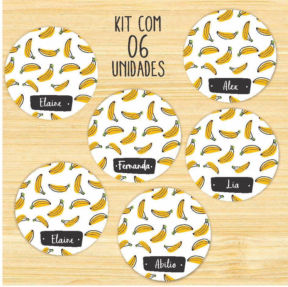 Porta-Copos Banana - KIT COM 06 unidades