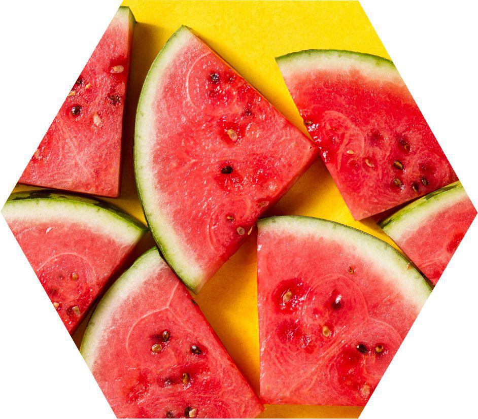 Quadro Hexagonal_Melancia