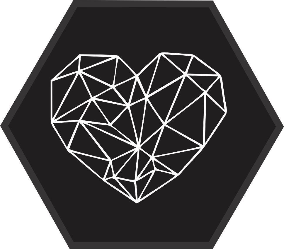 Quadro Escandinavo_Coração_Geometrico