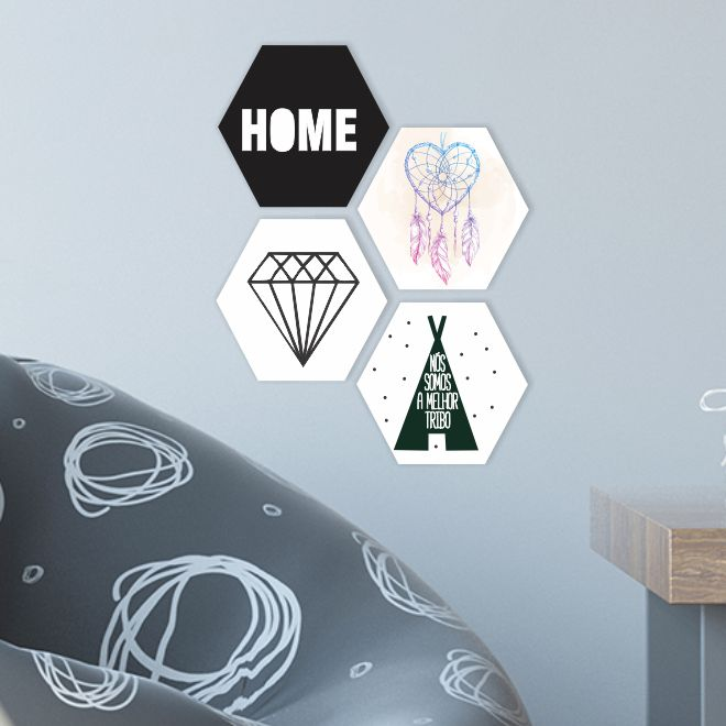 Quadro Escandinavo_Diamante_Geometrico