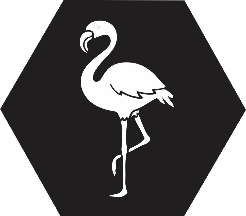 Quadro Escandinavo_Flamingo