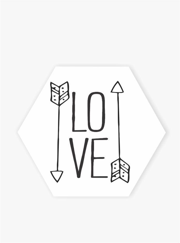 Quadro Escandinavo_Love_Setas
