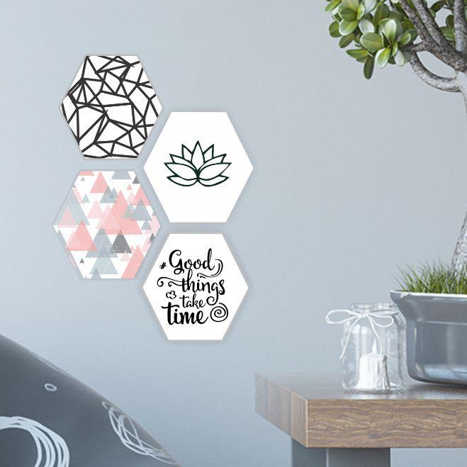 Quadro Escandinavo_Textura_Triangulos
