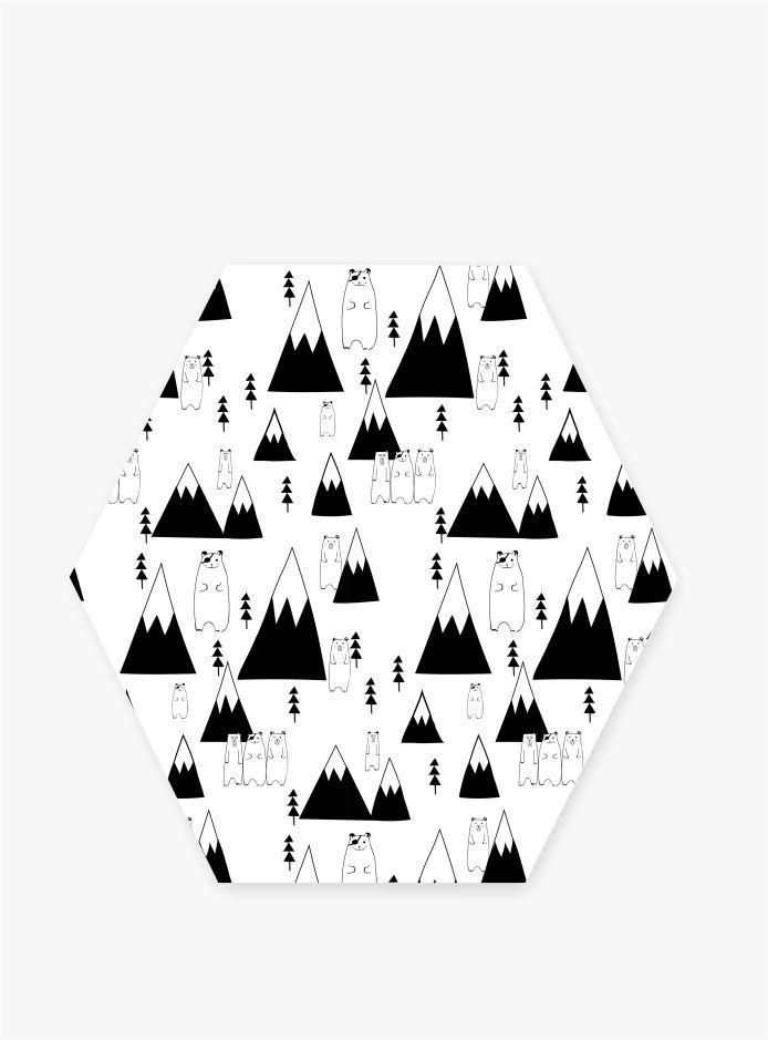 Quadro Escandinavo_Ursos e Montanhas