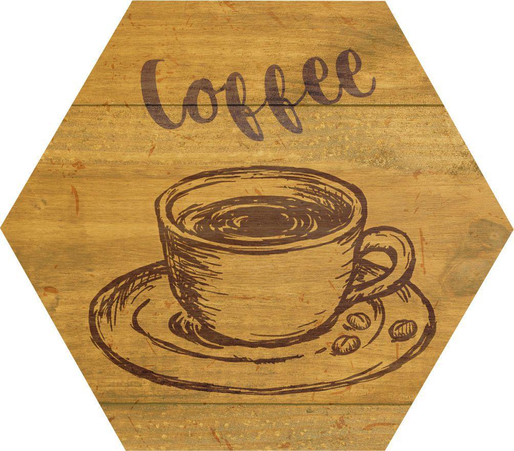 Quadro Estampa Madeira_Café
