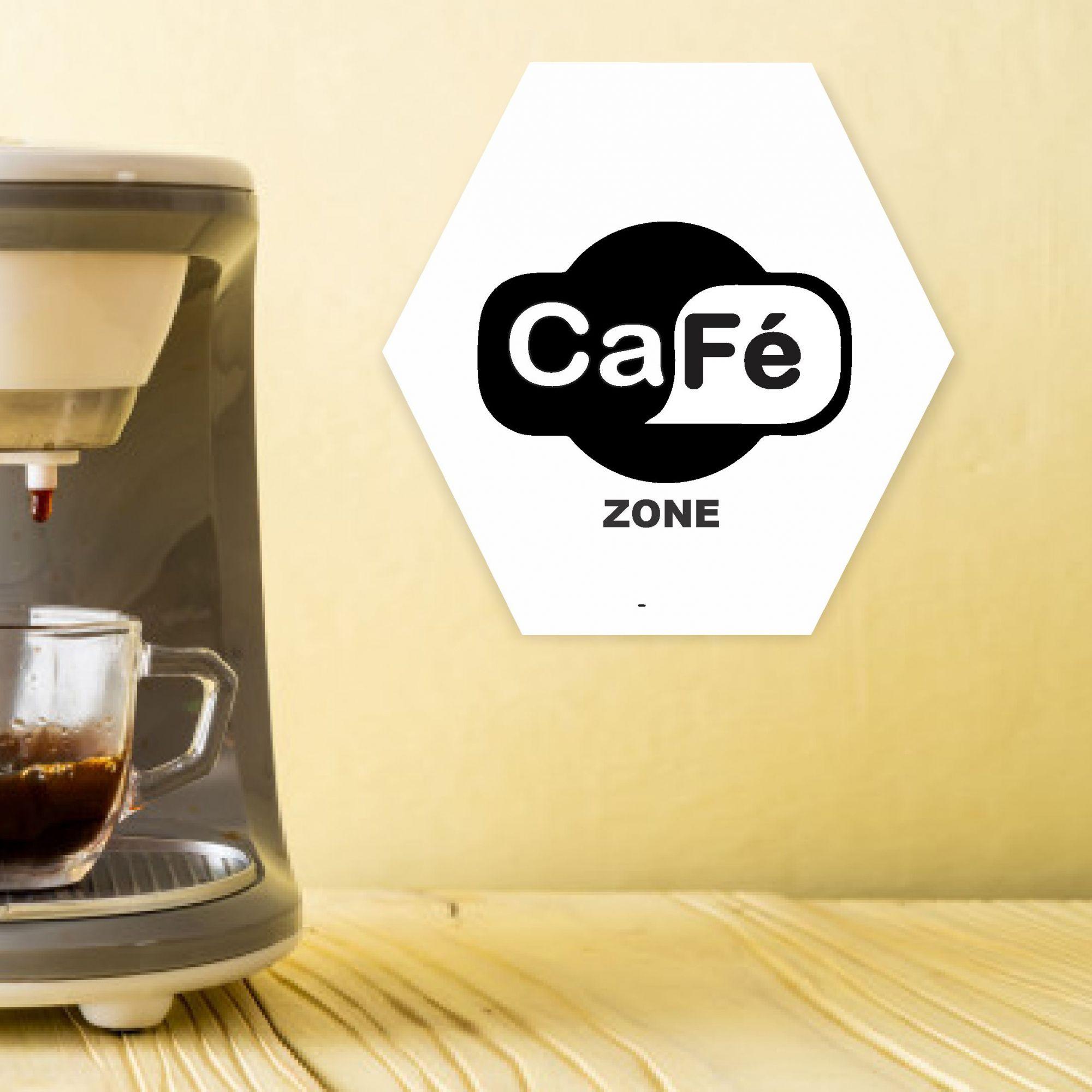 Quadro Hexagonal Cantinho do Café - Coffe Zone