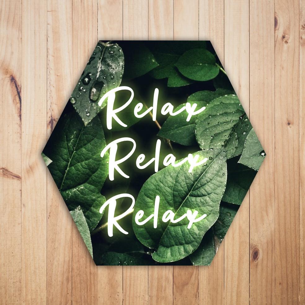 Quadro Hexagonal Escandinavo -  Relax