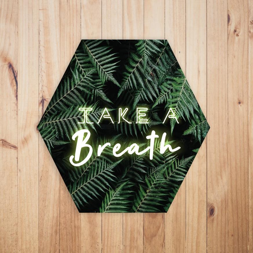 Quadro Hexagonal Escandinavo -  Take a Breath