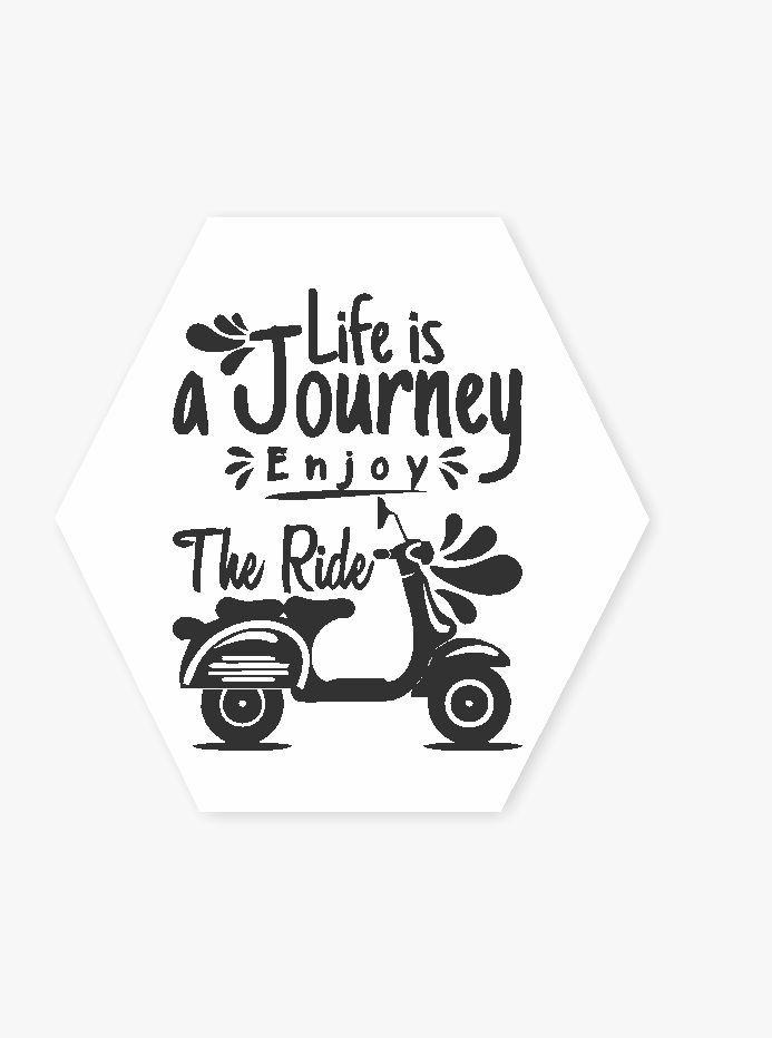 Quadro Hexagonal Journey