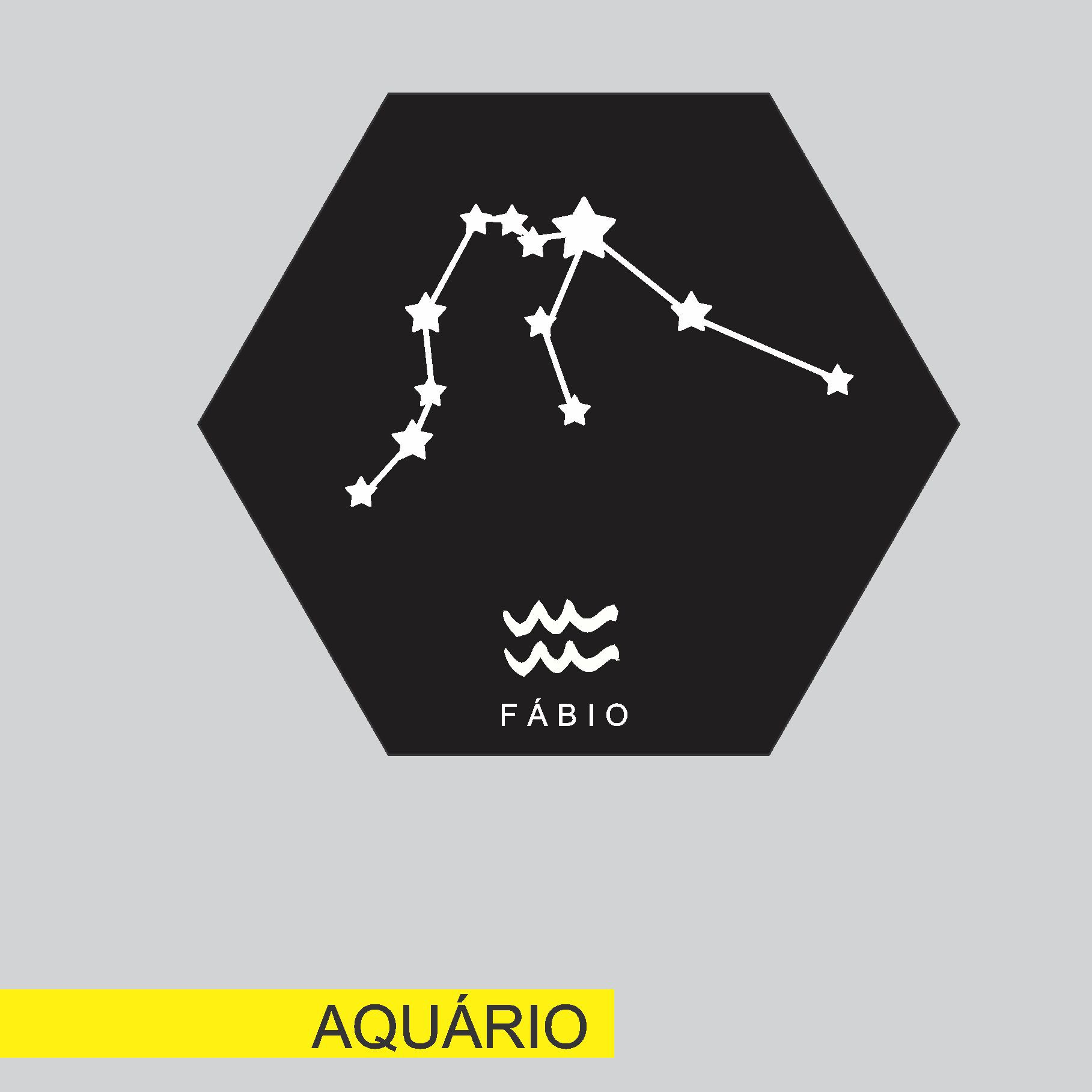 Quadro Personalizado signos do horoscopo - AQUÁRIO