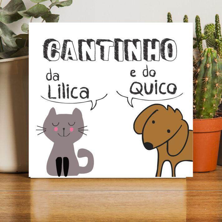 Quadro Personalizado Frase Família - Cantinho do PET