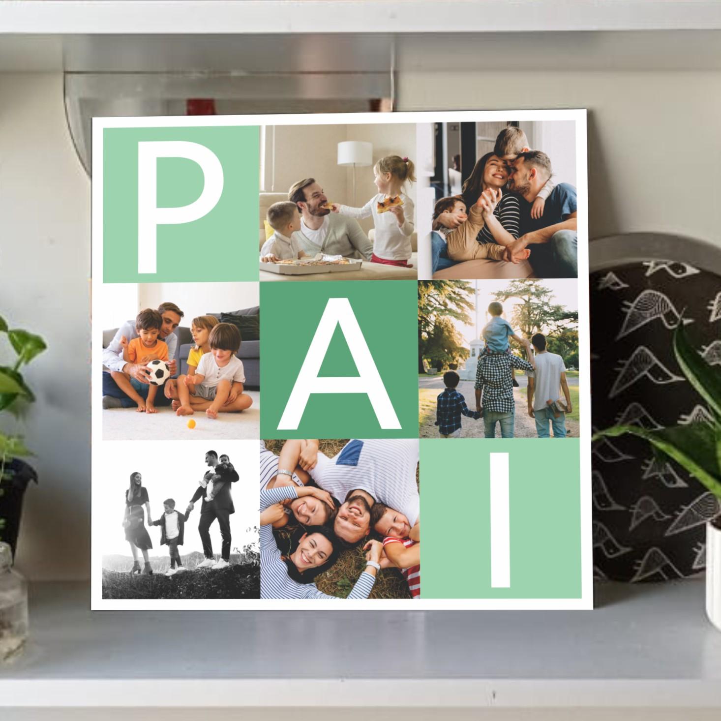 Quadro Personalizado - dia dos pais - COM FOTOS