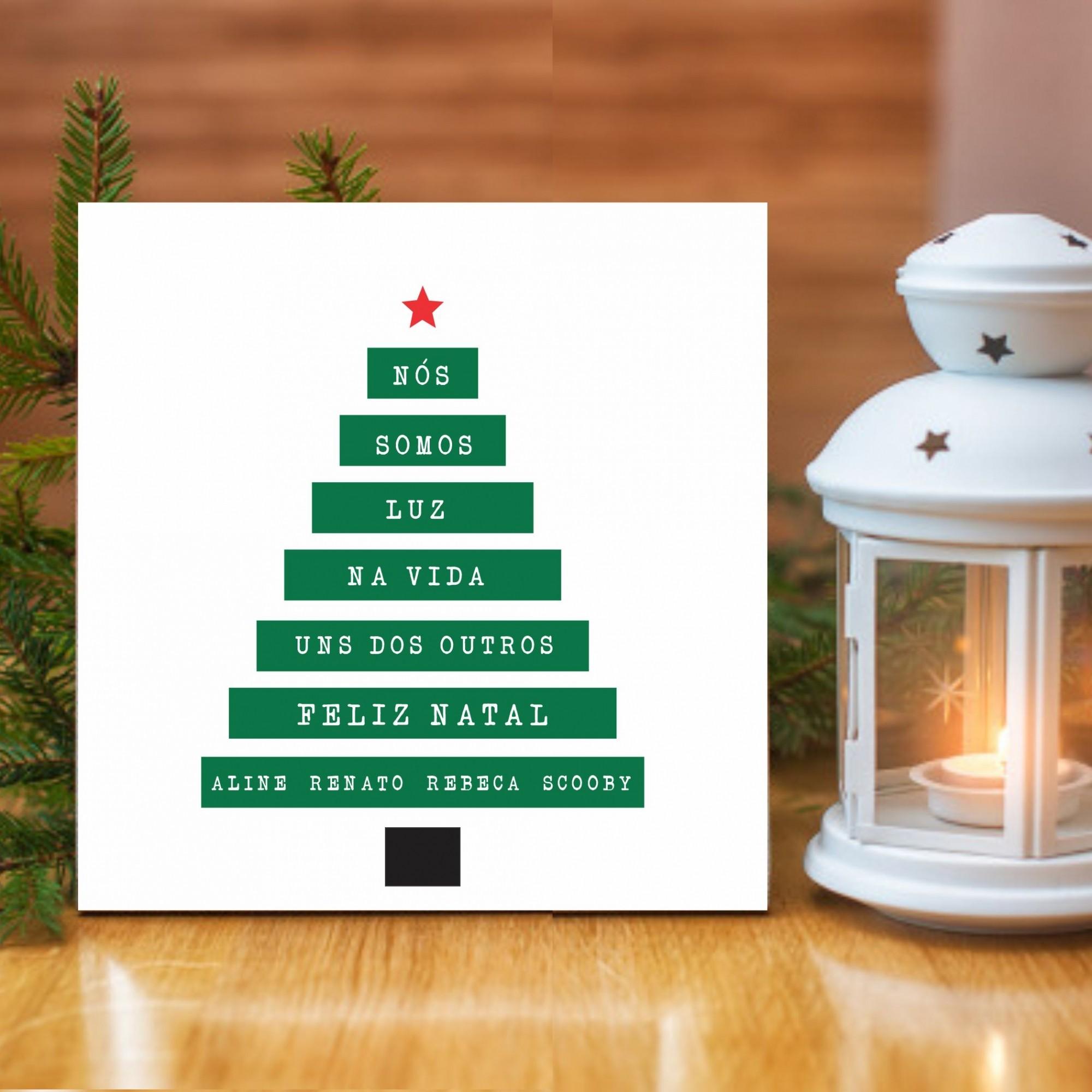 Quadro Personalizado Familia  - Arvore de Natal