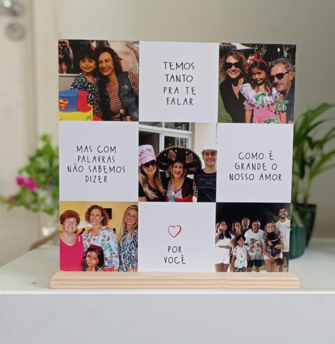 Quadro Personalizado Frase Família - Como é Grande Nosso Amor por Você - Fotos
