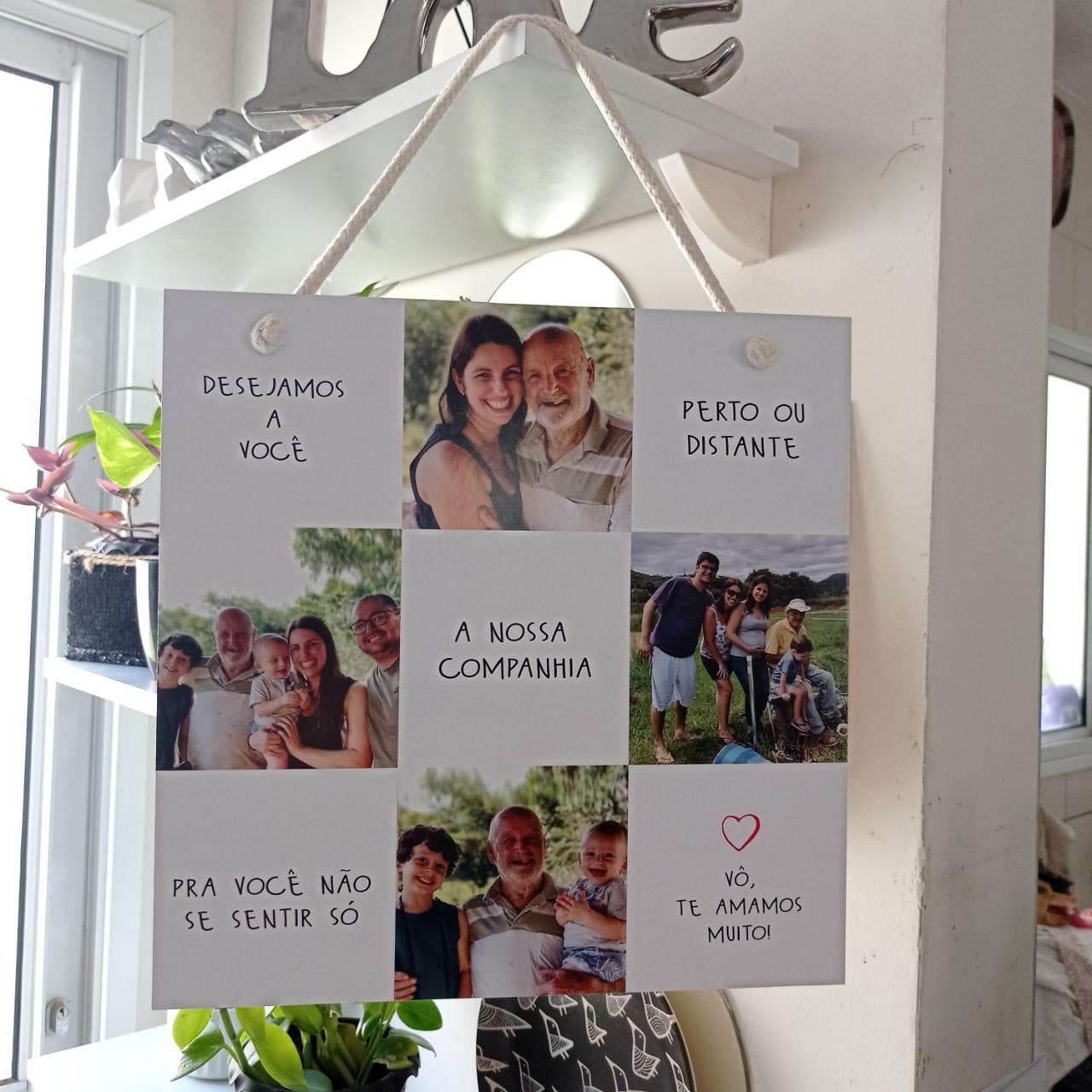 Quadro Personalizado Frase Família - Seu Colo é o nosso abrigo