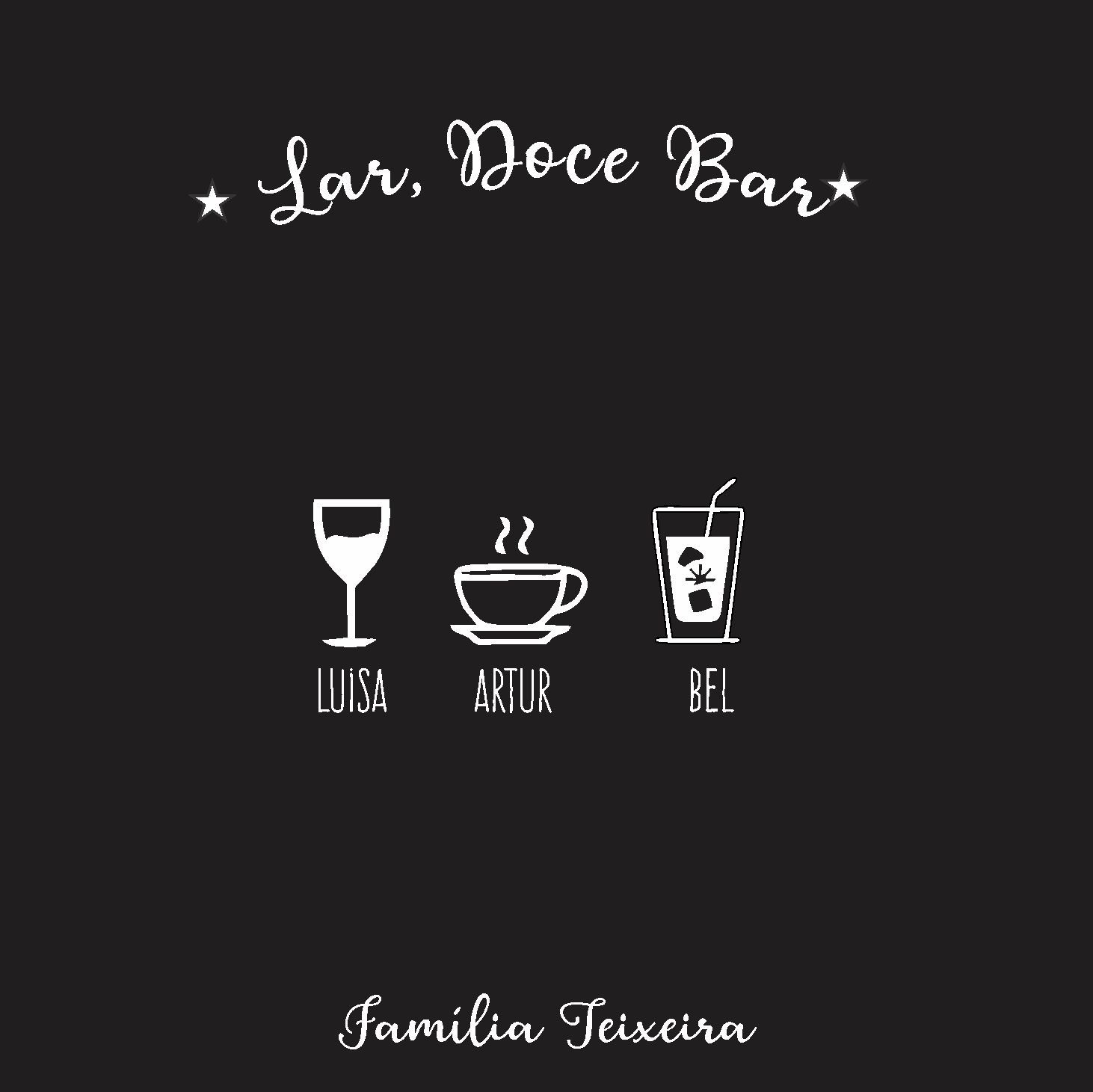 Quadro Personalizado - Lar Doce Bar