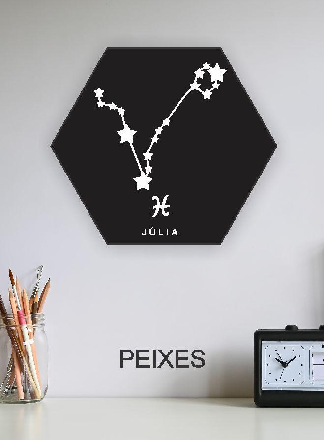 Quadro Personalizado - signos do horoscopo PEIXES