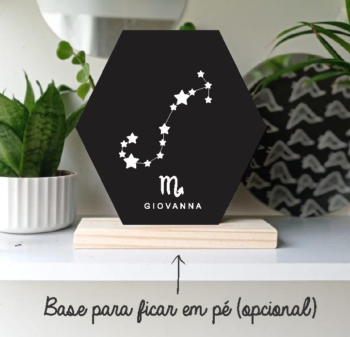 Quadro Personalizado signo do horoscopo - ESCORPIÃO