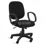 Cadeira Diretor Giratória encosto fixo com braços e mecanismo relax rodizios em nylon Preta ou Azul