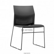 Cadeira fixa Connect sem braços com encosto e assento em polipropileno
