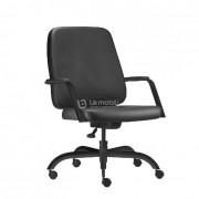 Cadeira Giratória Maxxer Diretor Assento e Encosto Estofado com Braços fixos integrados suporta até 150kg