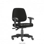Cadeira Operativa Giratória Job com braço mecanismo evolution e rodízio de nylon