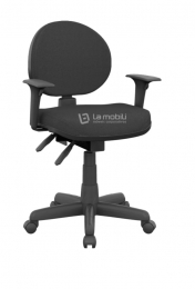 Cadeira Operativa Plus Executiva Giratória Ergonômica com Braços Reguláveis e Mecanismo Backplax NR.17 Preta