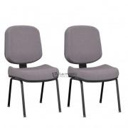 Cadeira Operativa Plus Interlocutor Diretor Fixa com Base 04 Pés Sem Braços Kit com 2 unidades