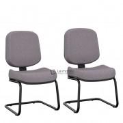 """Cadeira Operativa Plus Interlocutor Diretor Fixa com Base em """"S"""" e Sem Braços Kit com 2 unidades"""