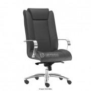 Cadeira Presidente New Onix com base giratória e rodízio em PU