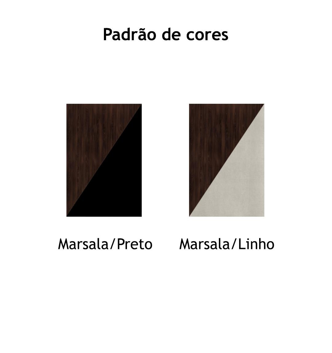 ARMÁRIO BAIXO COM 2 PORTAS DE ABRIR E 4 NICHOS EDGE