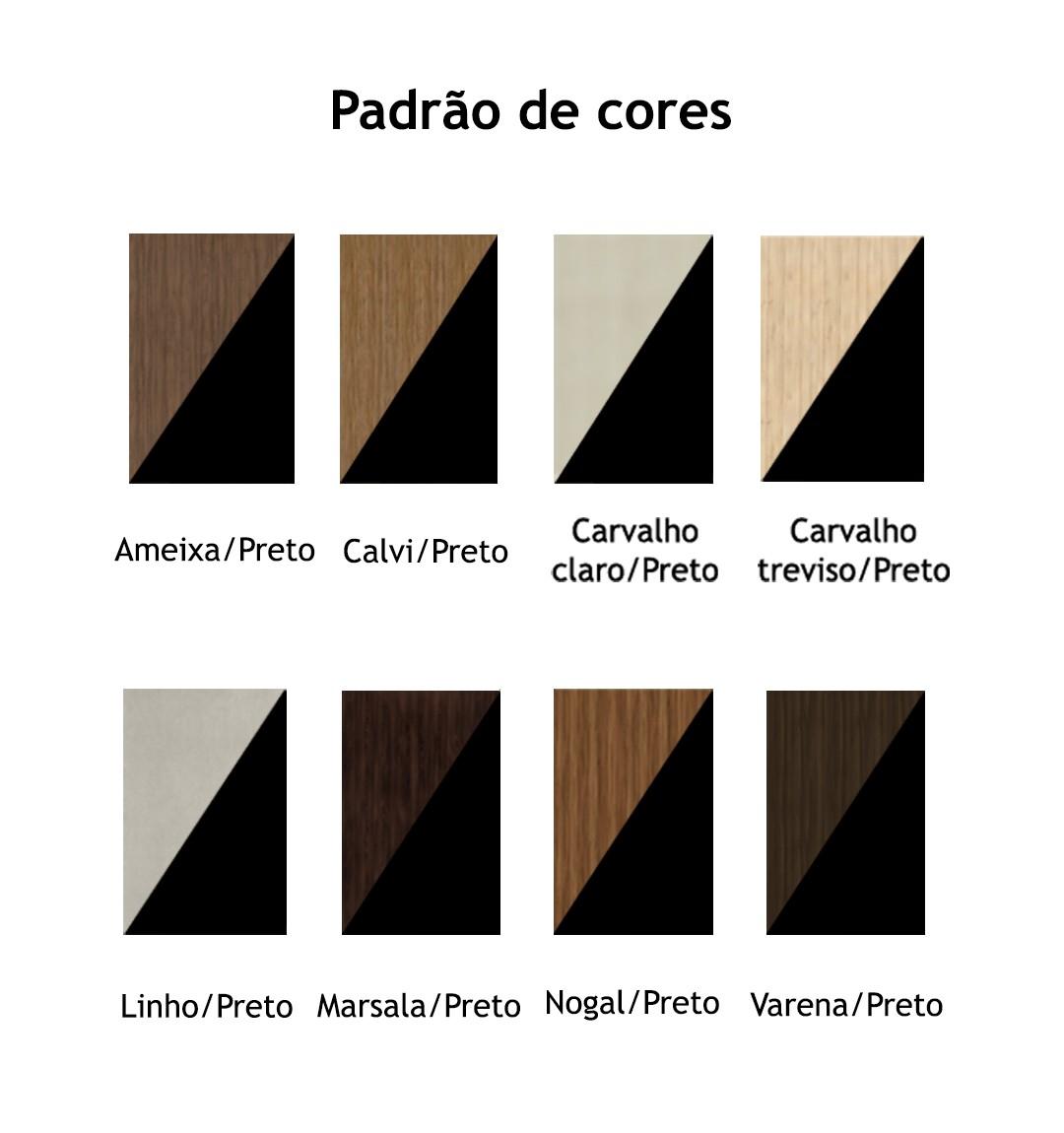 ARMÁRIO BAIXO CREDENZA 40MM COM 2 PORTAS DE ABRIR, 3 PRATELEIRAS E NICHO START