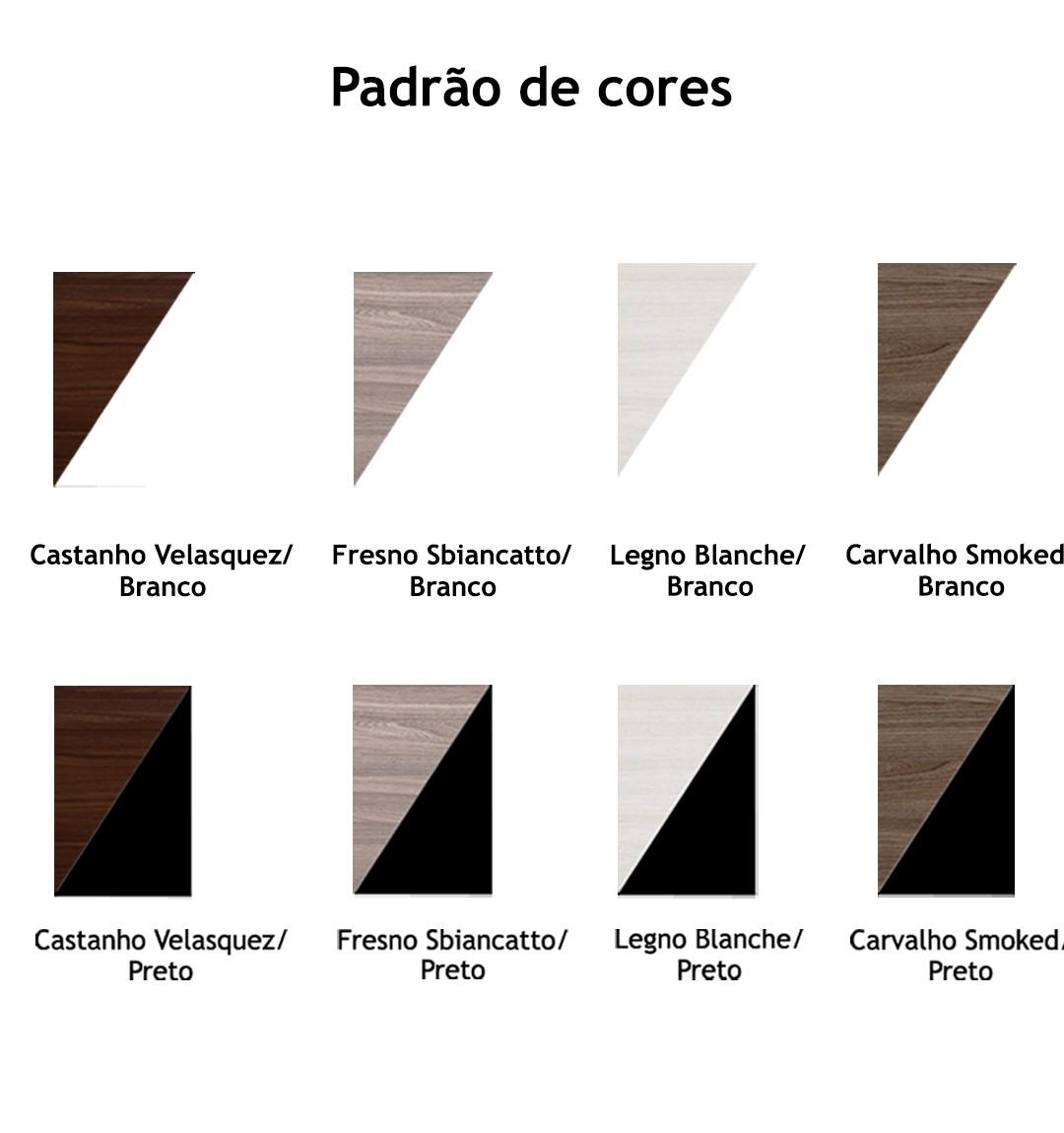 ARMÁRIO BAIXO CREDENZA COM 2 PORTAS DE ABRIR, 3 PRATELEIRAS E NICHO TAMPO 25MM PRIMA CLEAN