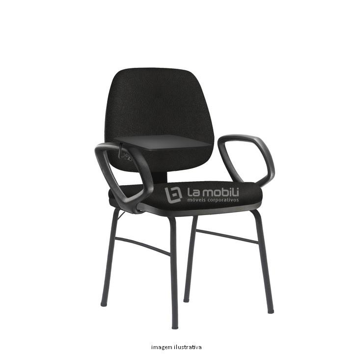 Cadeira de Treinamento Job Fixa com 4 Pés e Prancheta